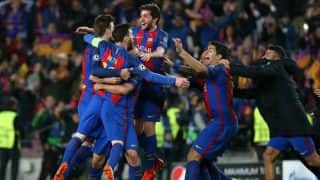 Champions League: Barcelona net three in last seven minutes to seal sensational 6-1 win against Paris St-Germain, watch video
