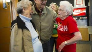 I'm lovin it! McDonald's throws cake party for 94-year-old grandmom who worked for them!