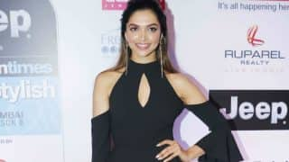 Deepika Padukone stuns in a black Milly outfit at the HT Most Stylish Global Icon Award 2017