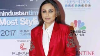 We love the jaw-droppingly gorgeous look of Rani Mukerji at the HT Most Stylish Global Icon Award 2017!