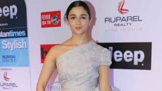 Alia Bhatt made heads turn in this one-shoulder outfit at the HT Most Stylish Global Icon Award 2017! View pics