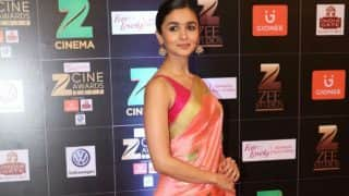 Alia Bhatt at Zee Cine Awards 2017: Badrinath Ki Dulhania actress makes jaw-dropping appearance in saree! View Pics!