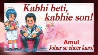 Amul pays tribute to Karan Johar and his twins in Dharma style!