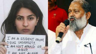 Those supporting Gurmehar Kaur should be sent to Pakistan: BJP minister Anil Vij