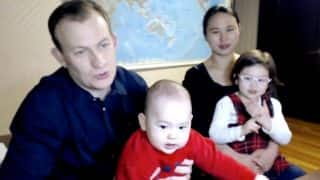 BBC fame Professor Kelly is back for an interview, this time with his wife and children! Watch Viral Video