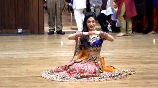 Bride's sangeet dance on Bollywood songs from Mahi Ve to Prem Ratan Dhan Payo goes viral!