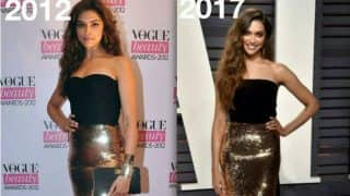 Deepika Padukone's dress at Vanity Fair Oscars 2017 Party is not the same as her 2012 dress! See pictures!