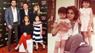Ranbir Kapoor's picture with Rishi, Neetu, Riddhima and nephew Samara makes for a picture perfect family