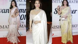 Sushmita Sen, Kajol and Sophie Choudry look gorgeous in a saree at the Mijwan Fashion Show 2017