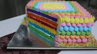 Holi Dessert Recipe: How to make colourful Holi-themed Rainbow Cake in easy steps