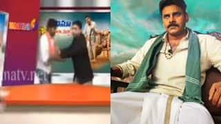 Katamarayudu poor movie review angers Pawan Kalyan supporters: Watch fans manhandle TV anchor on live video!