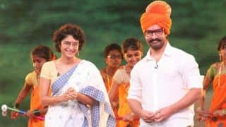 Birthday boy Aamir Khan with wife Kiran Rao shows off his desi swag at a promotional event