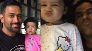 MS Dhoni's daughter Ziva utters VIVO IPL 2017 teams' names minus dad's Rising Pune Supergiants side! Watch cute video