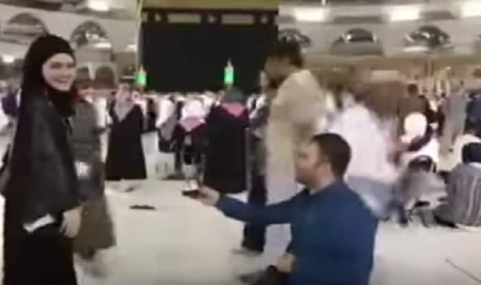 Man proposes girlfriend in front of Kaaba; viral video sparks anger online