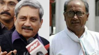 Manohar Parrikar takes a dig at Digvijaya Singh, says thanks for your 'incompetence' in Goa