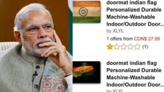 Amazon was privately reprimanded by Narendra Modi's Government for selling tricolor doormats & insulting Indian National Flag