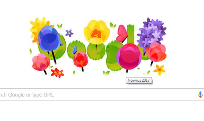 Nowruz 2017 wishes and greetings and google doodle