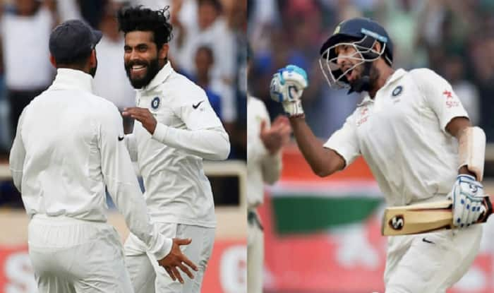 Ravindra Jadeja decimated Australia with 23 for 2 after Cheteshwar Pujara scored his third double hundred. (DNA)