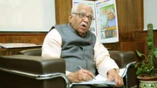 UP Governor Ram Naik writes letter to Akhilesh Yadav, seeks clarification over continuation of Gayatri Prajapati as cabinet minister
