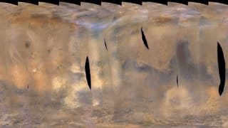 NASA Mars Orbiter shows images of back-to-back regional storms on the red planet