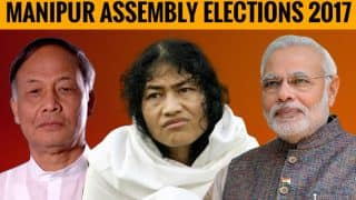 Manipur Election Results 2017 Updates so far: Although Congress led, BJP trails with short margin