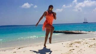 Malaika Arora Khan holidays in Maldives in vibrant bikini cover-up! View Pics!