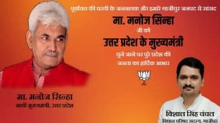 BJP MLC posts image on Facebook congratulating Manoj Sinha ahead of official announcement on Uttar Pradesh CM