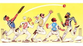 When was the first cricket Test match played? Google answers with Doodle on its 140th Anniversary! See scorecard of Eng vs Aus 1st Test