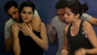 Ahead of International Women's Day Akshay Kumar and Taapse Pannu impart self-defence lessons to women (Watch Video)