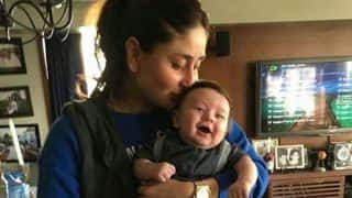 Kareena Kapoor KISSES her munchkin Taimur Ali Khan and we can't recover from this cute attack! (see picture)