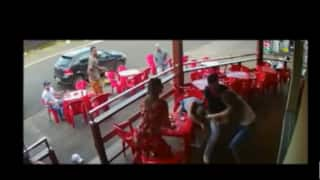 Video: Wife catches husband with lover, unleashes revenge immediately!