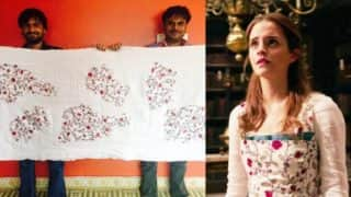 Emma Watson's Beauty and the Beast costume was made in India! See Gujarati Artist's eye catching dress!