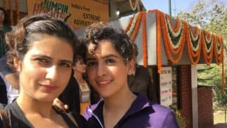 Dangal girls Fatima Sana Shaikh and Sanya Malhotra's death-defying adventure sport will give you goosebumps ( Watch Video)