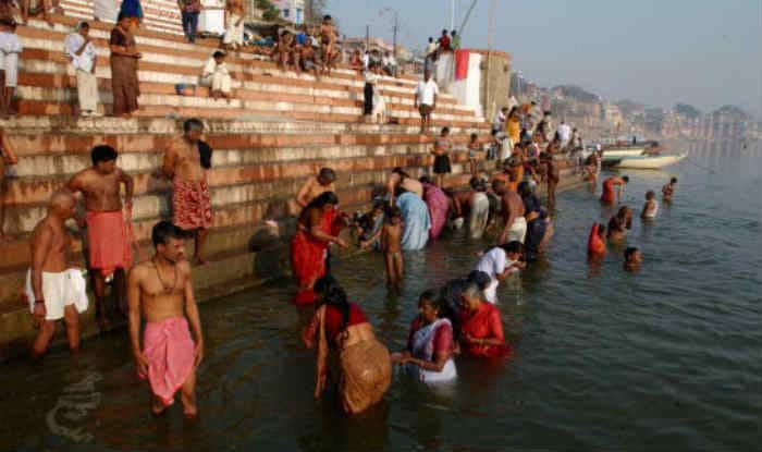 People on the ghats of river Ganga