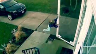 Viral Video: CCTV footage shows 4-year-old girl being blown away in Ohio's strong winds (Watch video)
