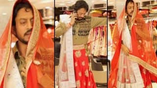 OMG! Irrfan Khan spotted wearing a saree and we are confused
