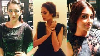 Esha Gupta, Shriya Saran and Akshara Haasan nail the green carpet look at IIFA Utsavam 2017!