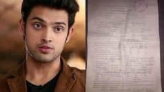 FIR filed against Parth Samthaan for molesting a 20 year old model