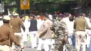 SYL row: Police lathicharge protesting INLD workers in Delhi