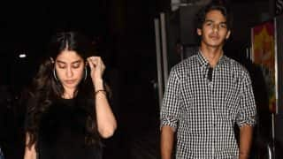 What's cooking? Jhanvi Kapoor and Ishaan Khattar watch Badrinath Ki Dulhania together - view HQ pics