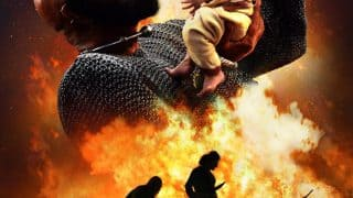SS Rajamouli shares the new poster of Baahubali 2 with a powerful tagline' The boy he raised, the man he killed'