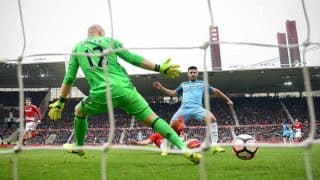 English Premier League 2017-18: Huddersfield Stun Manchester United, Manchester City Beat Burnley to Go 5 Points Clear