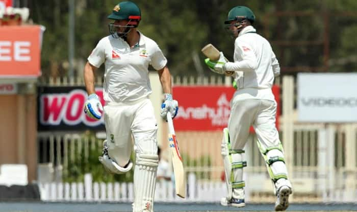 Shaun Marsh and Peter Handscomb in action. (Image courtesy: BCCI)