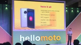 Moto G5 Plus with launched in India, starts from Rs 14999, goes on sale from midnight 12 PM