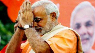 Narendra Modi walks a short distance to BJP headquarters: 10 points