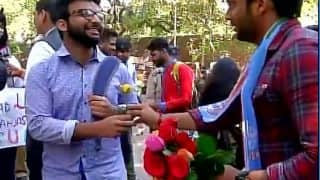Ramjas College row: NSUI students begin 'gift a rose' campaign to restore peace on campus