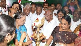 Panneerselvam inaugurates his party office for RK Nagar bypoll