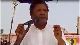 सामने आया बिहार के मंत्री का विवादास्पद वीडियो- पीएम की फोटो पर जूता मारो