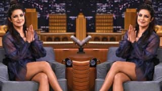 Priyanka Chopra donned this sheer Fendi outfit to celebrate Holi with Jimmy Fallon!