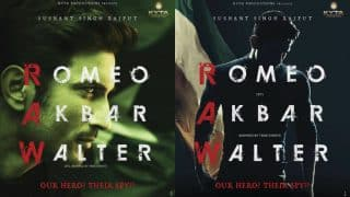 Romeo Akbar Walter Poster out: Sushant Singh Rajput unveils his RAW look and we are hooked